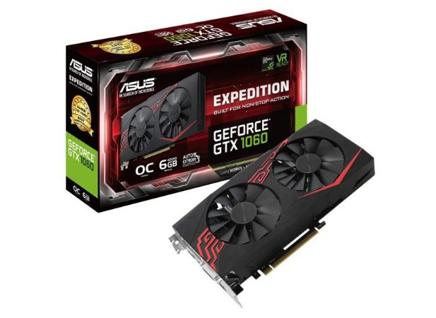 PLACA DE VIDEO ASUS GEFORCE GTX 1060 6GB DDR5 EXPEDITION EX-GTX1060-O6G