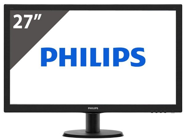 MONITOR LED 27 PHILIPS 273V5LHAB FHD HDMI DVI VESA
