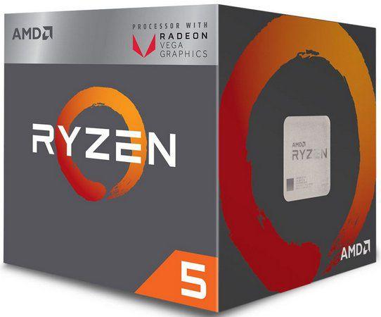 PROCESSADOR AMD RYZEN 5 2400G 3.6 GHZ 6MB AM4 WRAITH STEALTH YD2400C5FBBOX