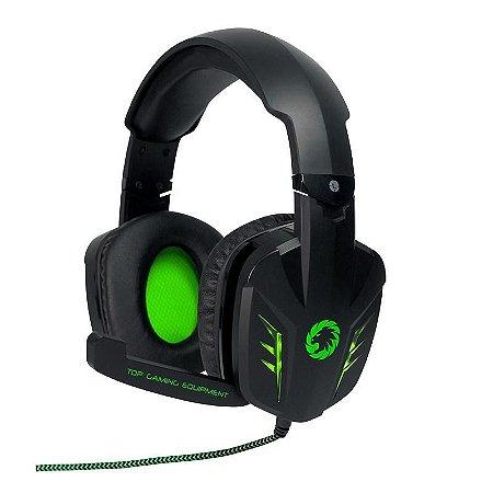 FONE HEADSET GAMER HG9008 USB PRETO/VERDE GAMEMAX