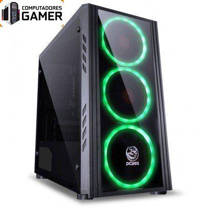 COMPUTADOR GAMER MK i5 8400 8GB DDR4 SSD 480GB GEFORCE GTX 1650 4GB SATURN FONTE 500W