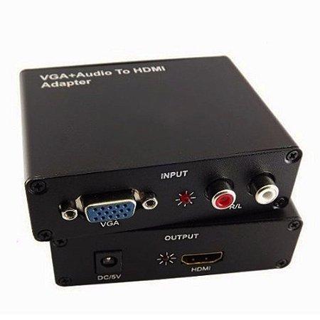 CONVERSOR VGA PARA HDMI COM AUDIO PARA XBOX 360 PS3 TV PC