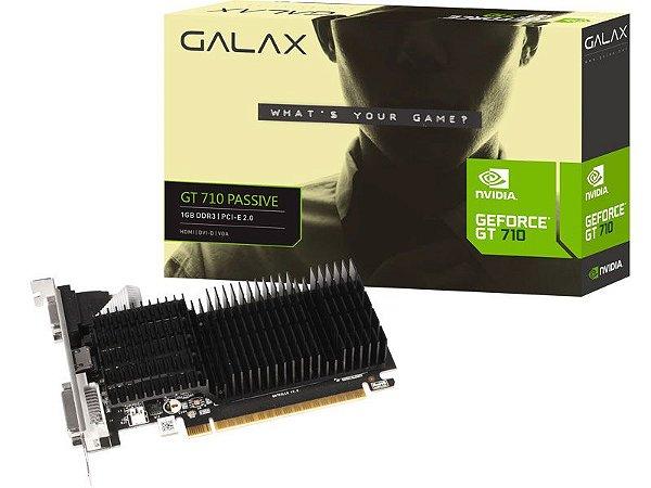 PLACA DE VIDEO GALAX GEFORCE GT710 1GB DDR3 64BITS 71GGF4DC00WG
