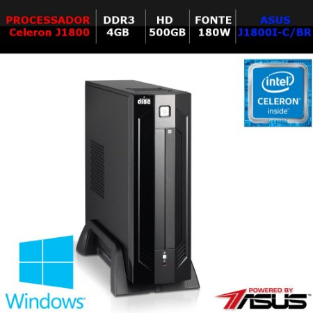 COMPUTADOR WORK NTC PC CELERON 1027 AR ITX COMPACT J1800 4GB HD500 180W