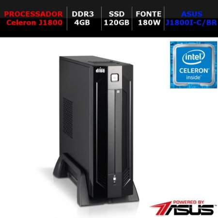 COMPUTADOR WORK NTC PC CELERON 1027 AR ITX COMPACT J1800 4GB SSD120 180W