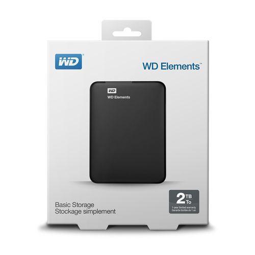 HD EXTERNO 2TB WD ELEMENTS USB 3.0 PRETO WESTERN DIGITAL WDBU6Y0020BBK