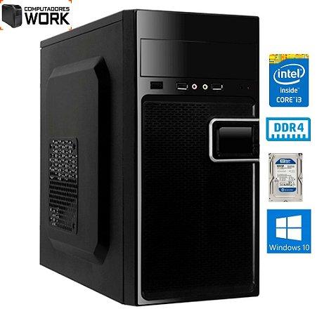 COMPUTADOR MK WORK INTEL I3 8100 4GB DDR4 HD 500GB GABINETE ATX 200W PRETO