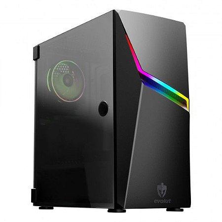 GABINETE GAMER EVOLUT EG-811 ASHE RGB BLACK