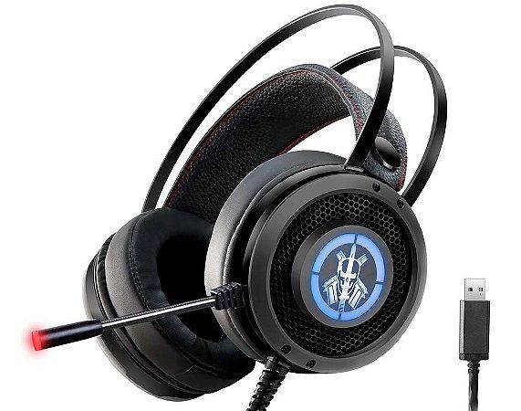 FONE HEADSET GAMER KMEX MIC ARS6 USB PRETO