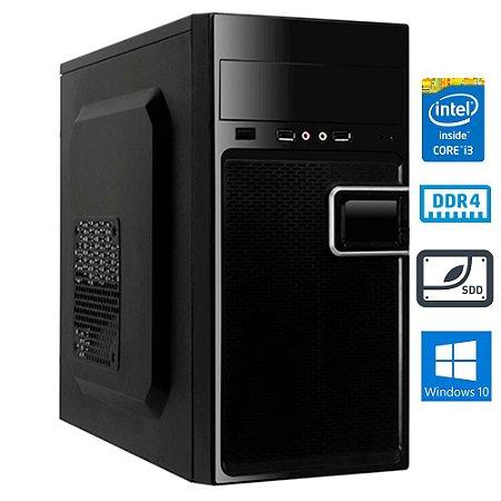 COMPUTADOR MK WORK INTEL i3 10100 4GB DDR4 SSD 240GB GABINETE ATX 200W PRETO