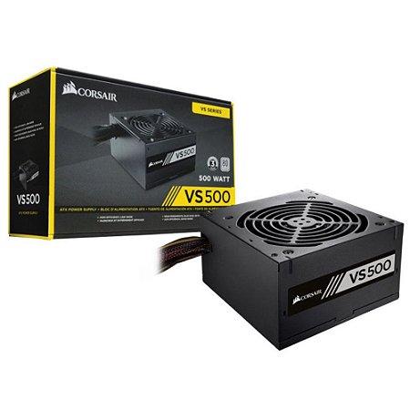 FONTE ATX 500W CORSAIR VS500 CP-9020223-BR 80 PLUS WHITE