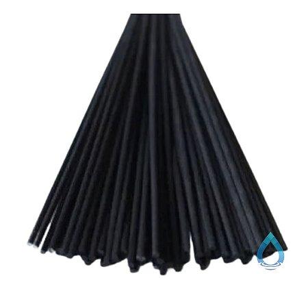 Vareta de Fibra Preta para Difusor de Ambiente 4 mm x 25 cm - Unidade