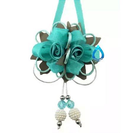 Laço Ouro Rosas para Difusor Tiffany