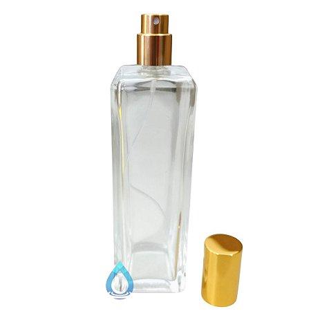 Frasco Retangular para Perfume 120 ml com Válvula 17/410