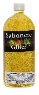 Sabonete Líquido com Gliter Ouro 1L