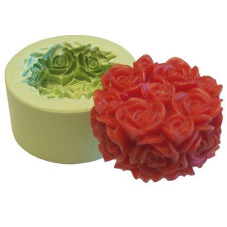 Fôrma de Silicone Tubete de Rosas
