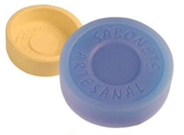 Fôrma de Silicone Sabonete Artesanal Redondo