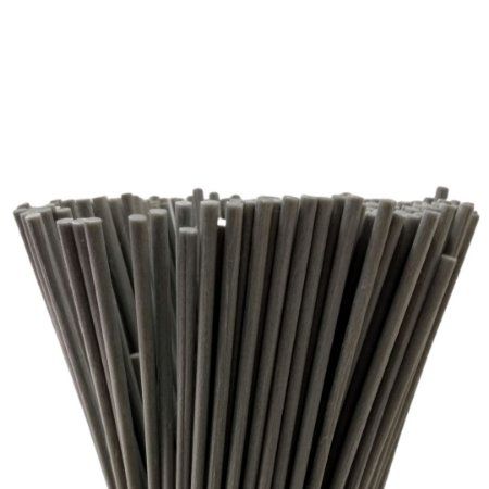 Vareta de Fibra Cinza 4 mm x 25 cm - Unidade