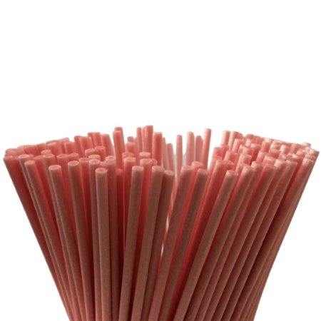 Vareta de Fibra Rosa 4 mm x 25 cm - Unidade