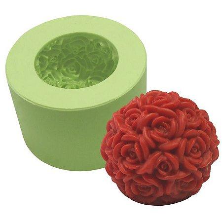 Fôrma de Silicone Bola de Rosas