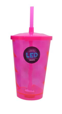 Copo Shake Neoplas Led Rosa 700ML 1X1