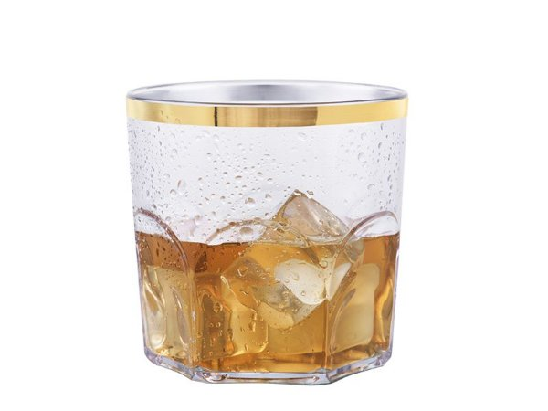 COPO WHISKY BEZAVEL COM BORDA OURO 340ML
