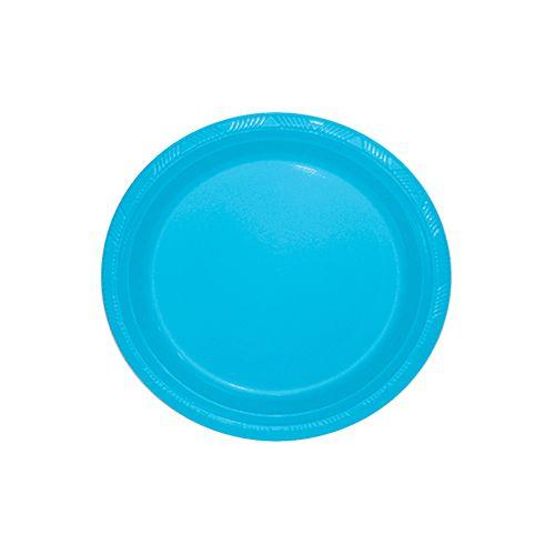 Prato Silverplastic Azul Bebê 23X23 10X1