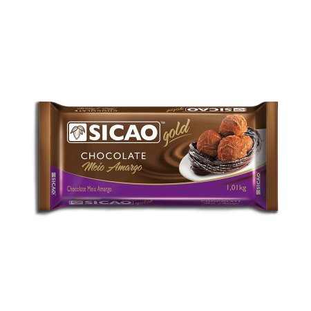CHOCOLATE SICAO GOLD MEIO AMARGO 1,01KG