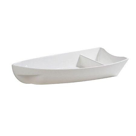 "Barca De Sushi ""P"" 600ML Policarbonato Branca"