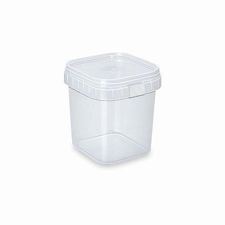 Pote De Plástico Quadrado Ws 10X1