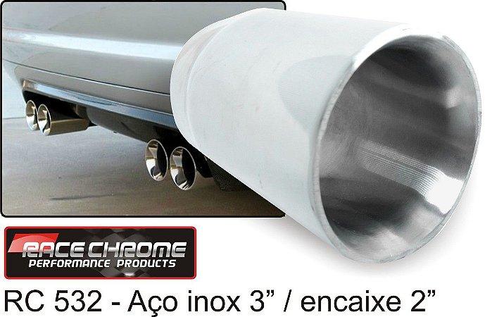 Ponteira Race Chrome Reta de Inox