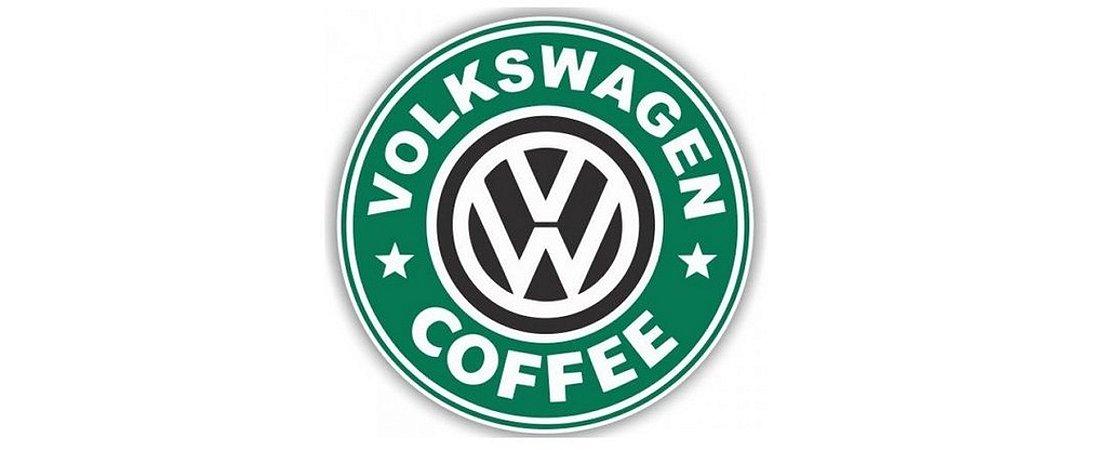 Adesivo Colorido Volks Coffee