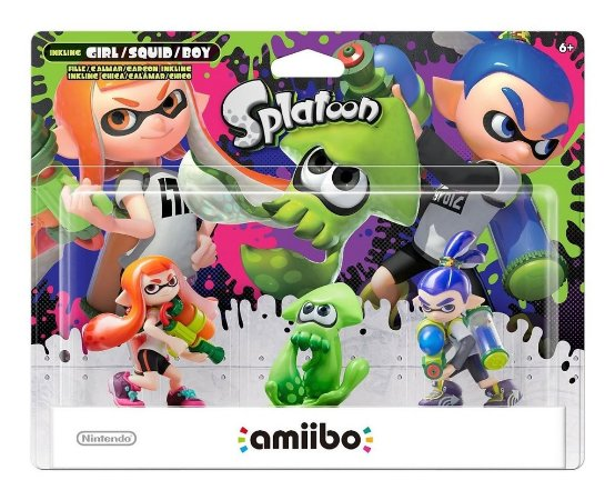 Amiibo Splatoon 3 Pack Inkling Girl, Boy E Squid