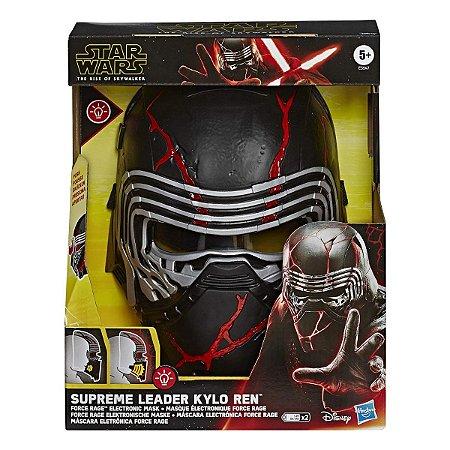 Mascara Eletrônica Star Wars Supreme Leader Kylo Ren Force Rage c/ Luzes