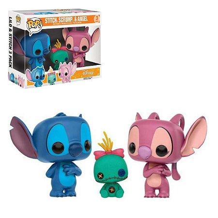 Funko Pop Lilo & Stitch 3 Pack Stitch, Scrump e Angel
