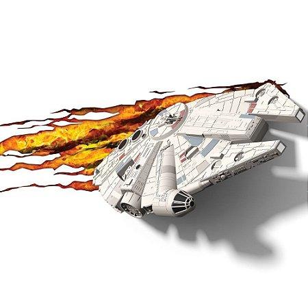 Luminária 3D Star Wars Millennium Falcon