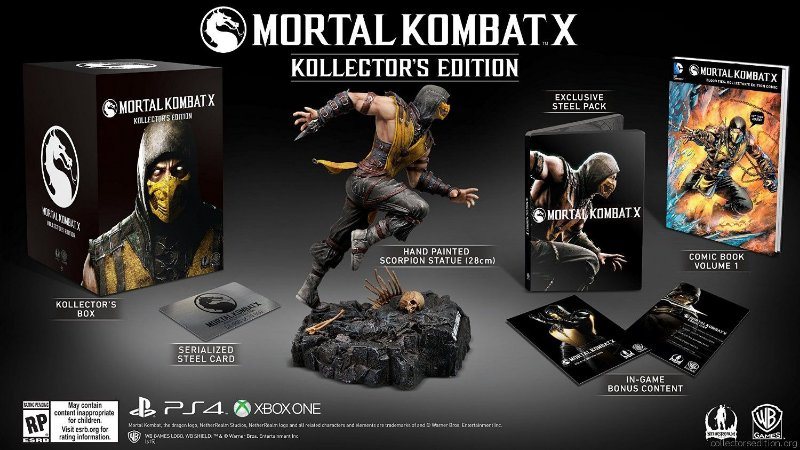Mortal Kombat X Kollector's Import Edition PS4
