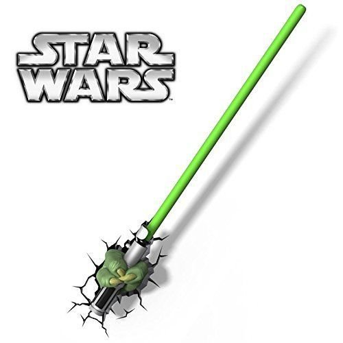 Luminária 3d Star Wars Mão Yoda C/ Sabre