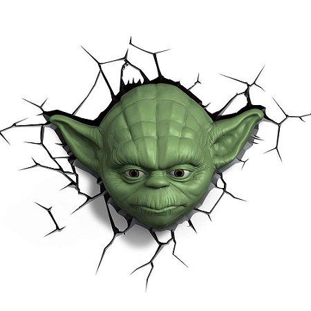 Luminária 3d Star Wars Máscara Yoda