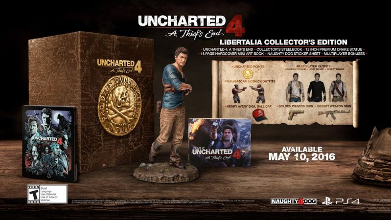 Uncharted 4: A Thief's End - Libertalia Collectors Edition - PS4