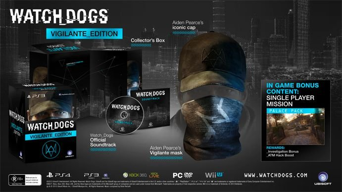 Watch Dogs Limited Edition Vigilante PS4