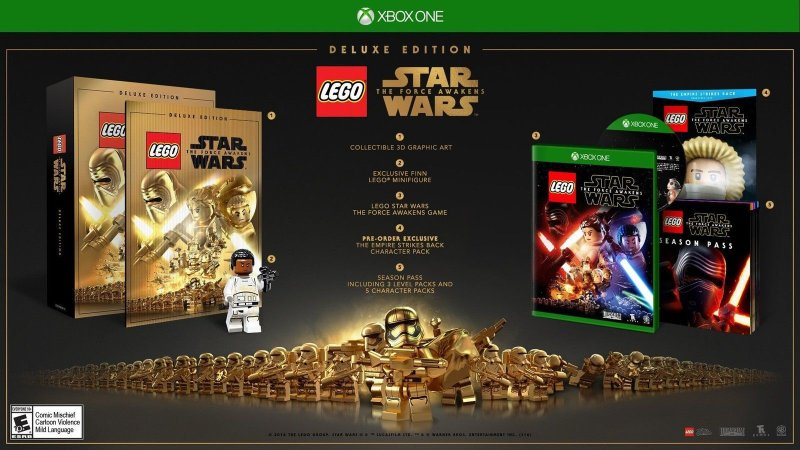 Lego Star Wars: Force Awakens Deluxe Edition + Lego Finn - Xbox One