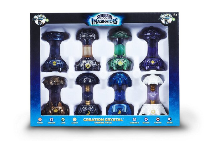 Skylanders Imaginators 8 Creation Crystal Combo Pack - Cristal de Criação 8 unid.