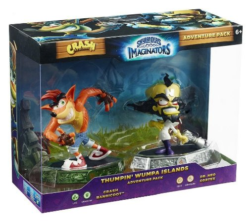 Skylanders Imaginators Thumpin Whumpa Islands Crash e Neo Cortex Adventure Pack