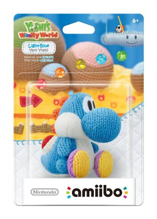 Amiibo Light Blue Yarn Yoshi (Yoshi's Woolly Series)