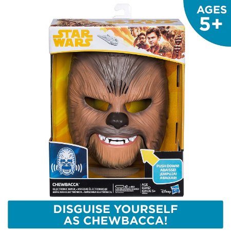 Máscara Chewbacca Star Wars The Force Awakens - Sons e Muda Voz