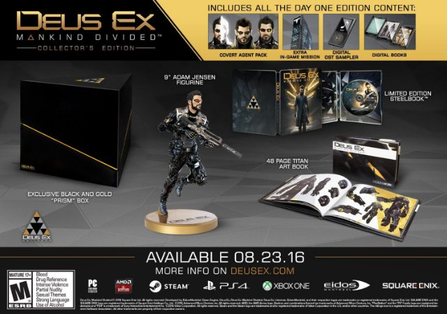 Deus Ex: Mankind Divided Collector's Edition - PS4