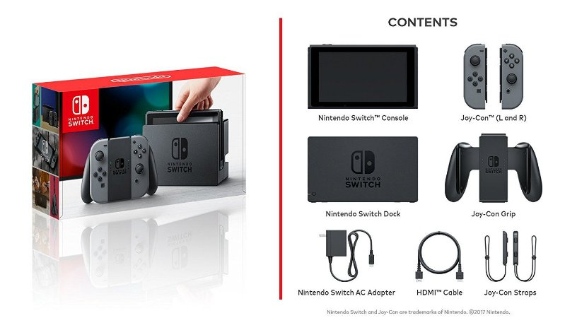 Console Nintendo Switch Preto/Cinza 32Gb - Nintendo