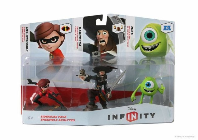 Disney Infinity 3-Pack Sidekicks Mike Barbossa Mrs Incredible