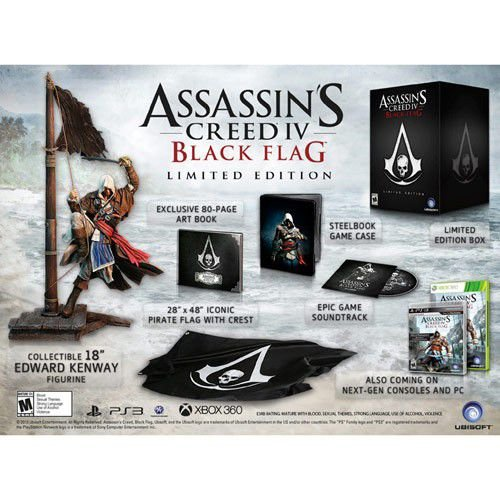 Assassins Creed IV Black Flag Limited Edition Collectors PS3